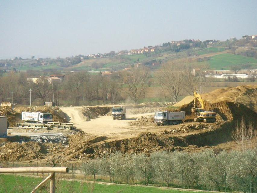 Perugia-ancona,il cantiere di San Gregorio