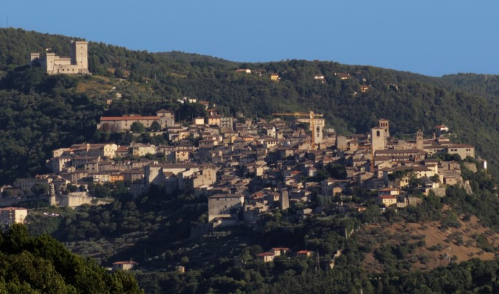 Panorama of Narni taken from 5 km air-line