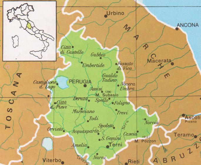 Cartina Stradale Umbria Toscana.Nuovi Confini Per L Umbria Due Comuni Del Lazio Rimettono In Gioco L Ipotesi Umbria Domani