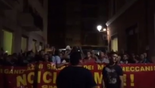 sciopero di notte operai ast terni