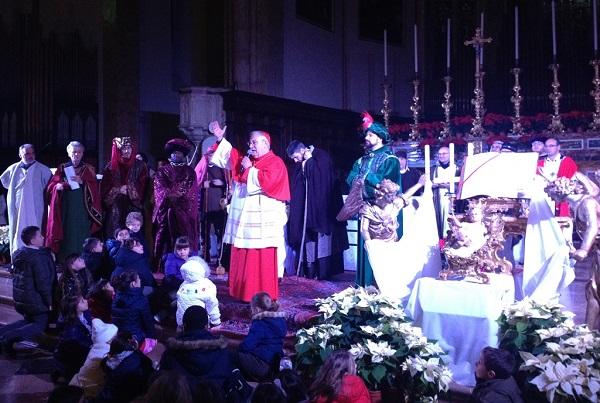 card bassetti in cattedrale al termine sacra rappresentazione arrivo dei magi