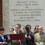 """Foligno, celebrato il 70° della Liberazione, Mismetti: """"Riaffermare i valori della Resistenza per combattere nuove forme di violenza"""""""