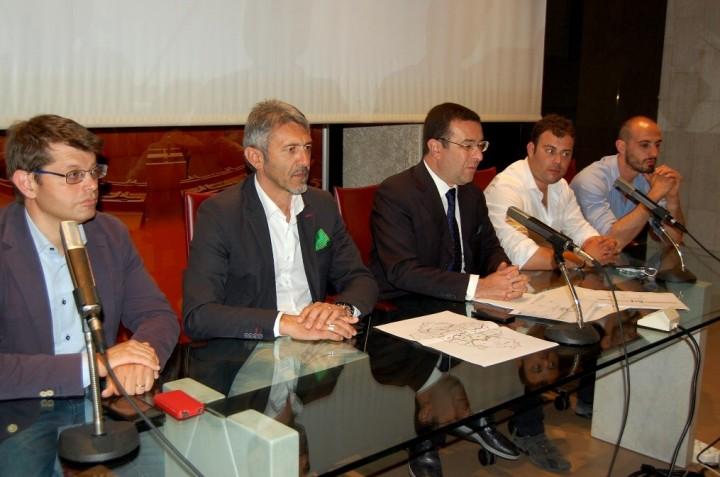Da sinistra Luca Briziarelli, Valerio Mancini, Stefano Candiani, Emanuele Fiorini, Riccardo Marchetti (1)-1