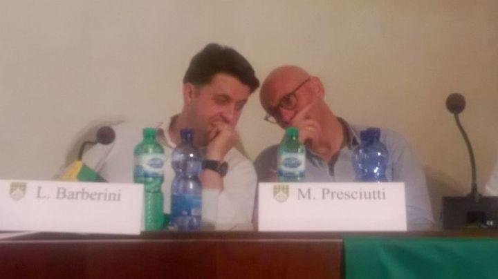 L'Assessore Barberini e il Sindaco Presciutti