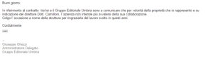 mail giornale