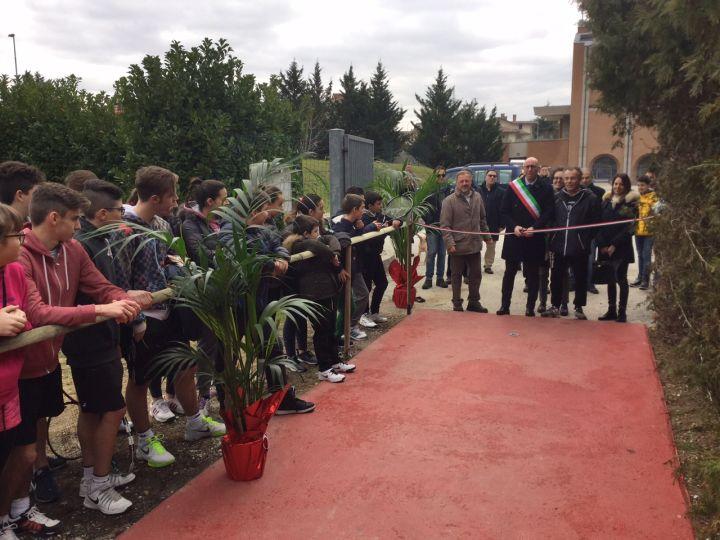 L'inaugurazione degli impianti sportivi presso il Centro Sportivo Nello Saltutti