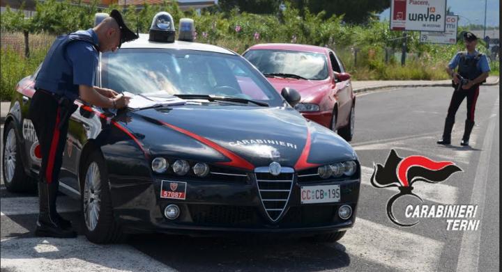 Posto di blocco Carabinieri Terni