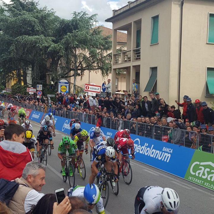 Arrivo Giro a Foligno