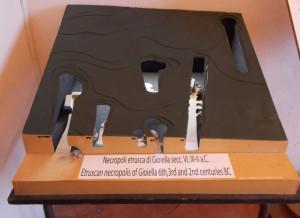 Museo Virtuale - Plastico della necropoli di Gioiella del 1973