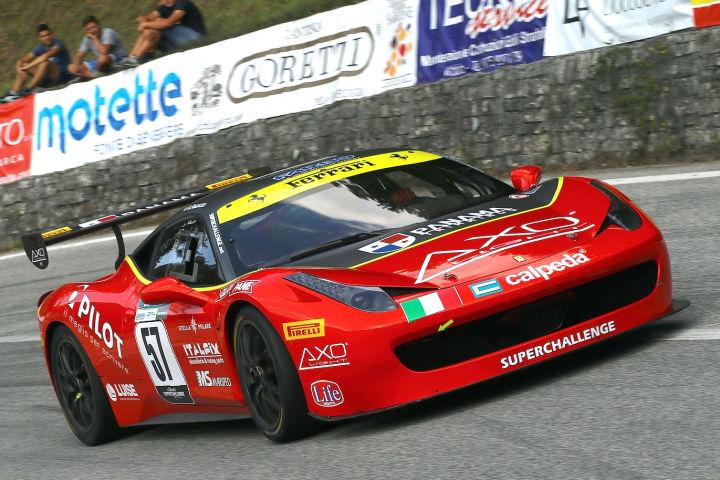 Ferrari 458 action TrofeoFagioli50 FotoBeretta