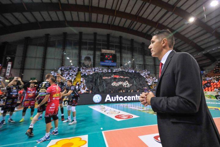 «Sir Safety Conad Perugia - Bunge Ravenna» 4ª giornata SuperLega UnipolSai Campionato italiano di Pallavolo Maschile Serie A1