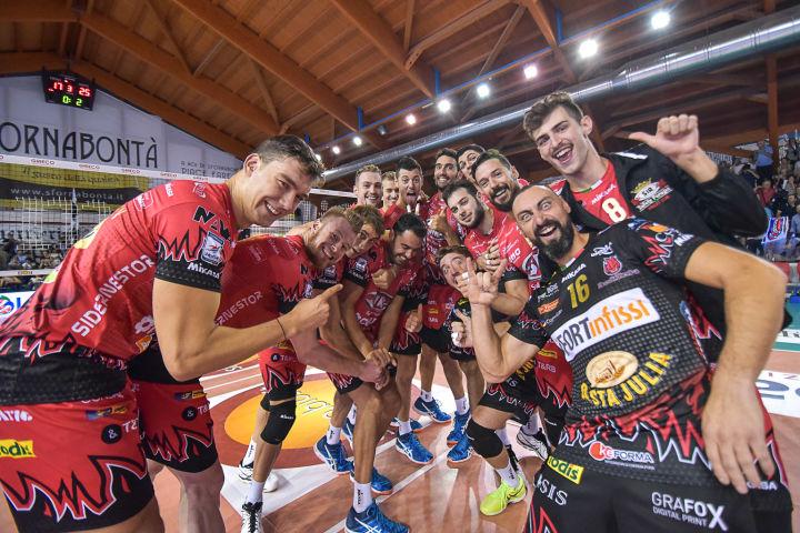 «Biosì Indexa Sora - Sir Safety Conad Perugi» 3ª giornata SuperLega UnipolSai Campionato italiano di Pallavolo Maschile Serie A1