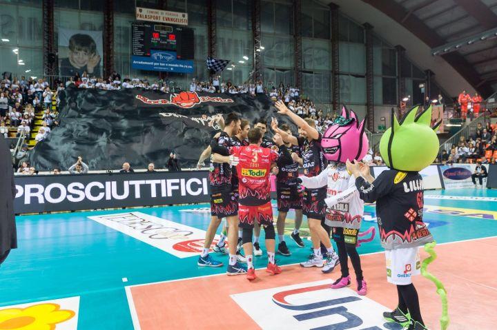 «Sir Safety Conad Perugia - Revivre Milano» 13ª giornata SuperLega UnipolSai Campionato italiano di Pallavolo Maschile Serie A1