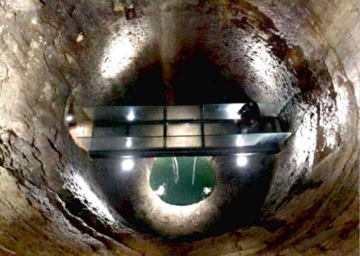 Perugia nuovo allestimento per il pozzo etrusco passerella in