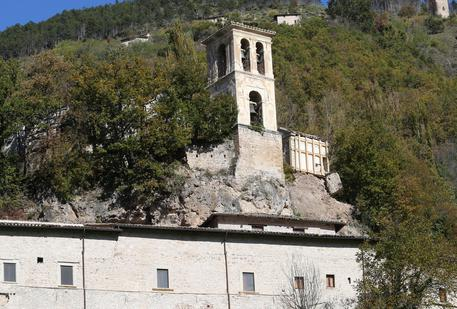 The damaged Abbey of Sant'Eutizio near Preci, a day after two big earthquakes shook central Italy, 27 October 2016. At least 200 aftershocks followed the first of two big earthquakes to hit central Italy the previous evening, the National Institute of Geophysics (INGV). The first 5.4 magnitude quake struck at 19:10 Italian time and was followed by an even bigger one, of magnitude 5.9, at 21:18 on 26 October. ANSA/GIAN MATTEO CROCCHIONI