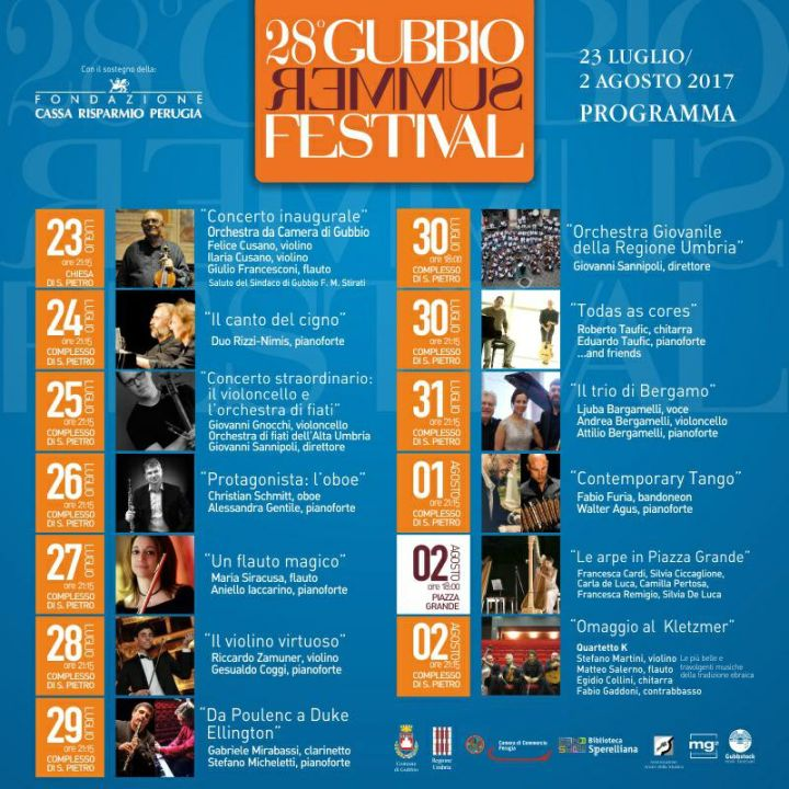 Gubbio Summer Festival 2017 cartellone