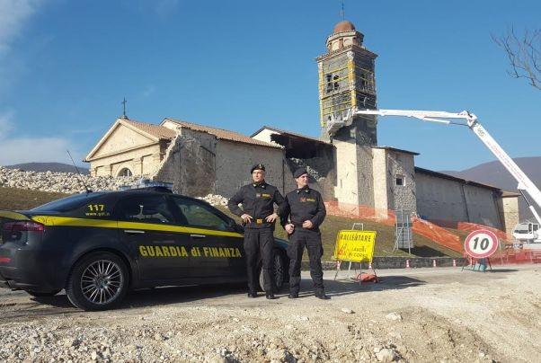 guardia di finanza terremoto