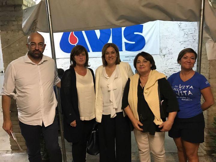 da sx, Roberto Damaschi, Donatella Porzi, Catiuscia Marini, Fernanda Cecchini, Monia Peri