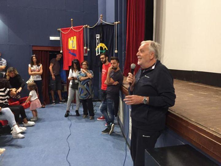 l'intervento del sindaco Ansideri