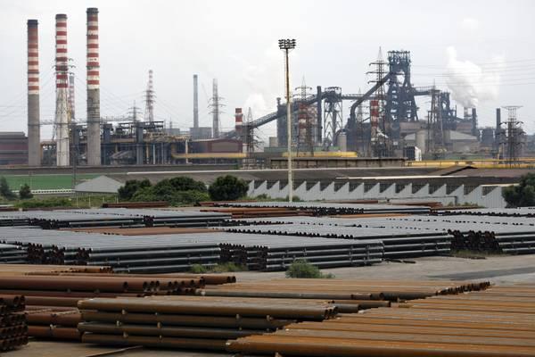 Panoramica dello stabilimento Ilva di Taranto in una foto d'archivio. ANSA/UFFICIO STAMPA ILVA +++ NO SALES, EDITORIAL USE ONLY +++