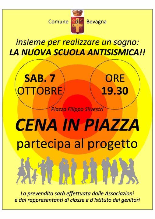 Locandina Cena in piazza a Bevagna