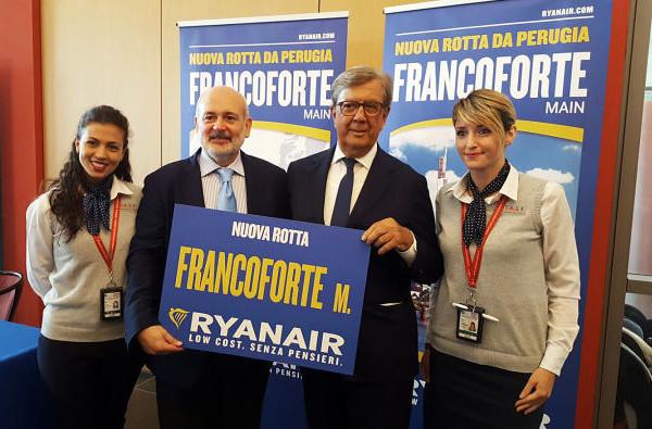 Aeroporto Umbria - Rinnovo contratto SASE - Ryanair - Novembre 2017