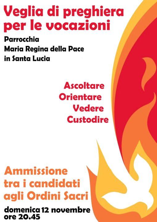 Locandina Veglia diocesana di preghiera per vocazioni 2017