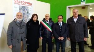 da sinistra Bernardino Sperandio, Donatella Porzi, Lodovico Baldini, Moreno Landrini, Giovanni Bontempi