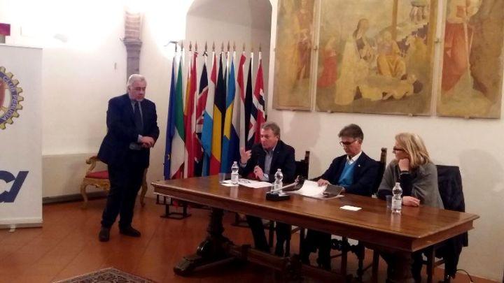 da sx, Pietro Cogolli, Luigi Gargiulo, Ruggero Campi, Cristiana Casaioli