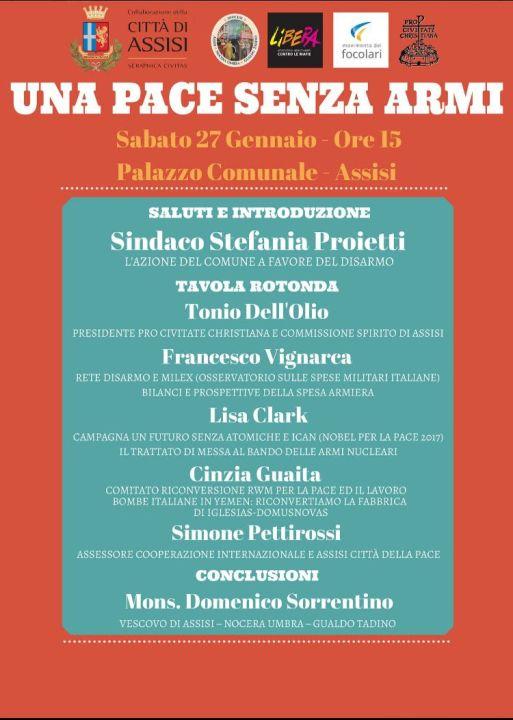 Assisi tavola rotonda una pace senza armi organizzata - La tavola rotonda assisi ...