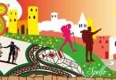 Spello, gli infioratori all'opera per festeggiare l'apertura della Villa dei Mosaici