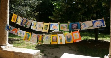 alcuni dei disegni esposti nel chiostro di sant'anna f1
