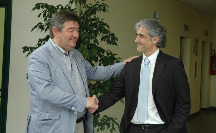 foto Direttore Generale Dr. Fiaschini con nuovo primario Foligno Dr. Calabrò