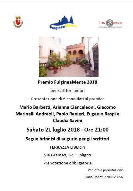 Foligno, Premio letterario Fulgineamente: primo incontro tra ...