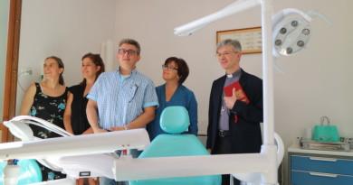 L'inaugurazione dell'ambulatorio medico-sanitario