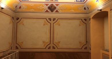 sala sant'anello della cattedrale pg con pareti decorate