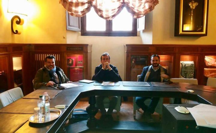 da sx verso dx Massimo Perali, Paolo Selmi e Andrea Vincenti