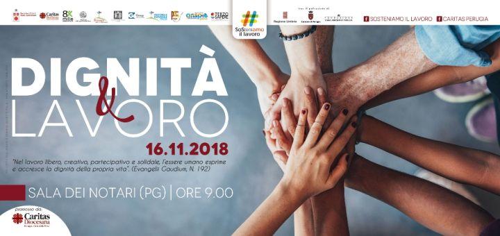 manifesto convegno caritas 'dignità e lavoro'