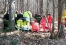 Fossato di Vico, boscaiolo si infortuna: interviene l'elisoccorso