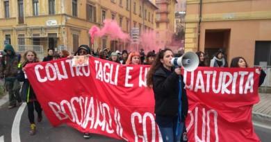 La protesta a Perugia 1