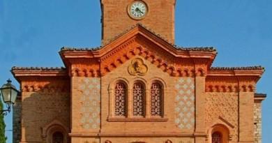 la facciata della chiesa parrocchiale san pietro ap di chiugiana - corciano pg