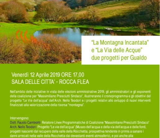 """Presentazione Progetti """"LA VIA DELLE ACQUE"""" - """"MONTAGNA INCANTATA"""" - Ven. 12 Apr Ore 17"""