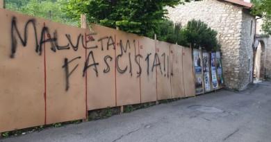 Stroncone, scritte contro Malvetani
