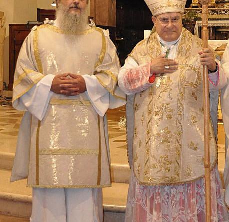 Massimiliano Collodi e il vescovo Giuseppe Piemontese