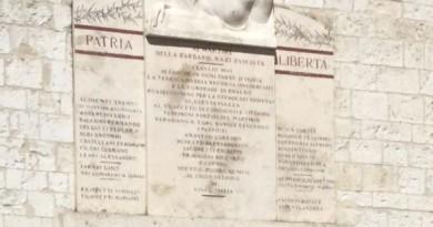 Lapide Piazza Martiri Gualdo Tadino