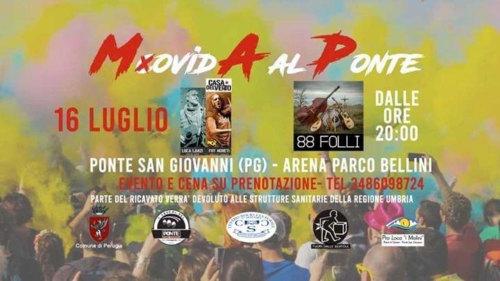 Movida al Ponte, tre serate di musica e solidarietà a Ponte San Giovanni