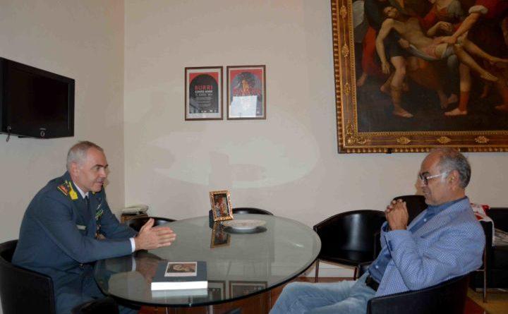 Città di Castello, il sindaco Bacchetta incontra il comandante della Guardia di Finanza