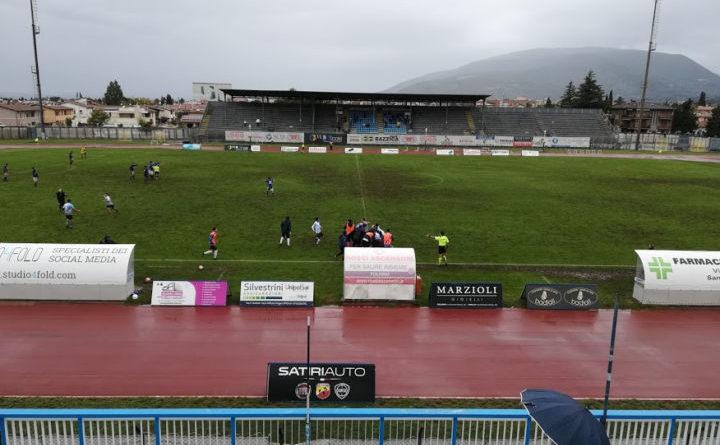 Calcio serie D girone E, il Foligno perde contro il Cannara 0-3