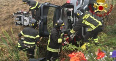 Incidente stradale a Corciano: due i feriti estratti dalle lamiere