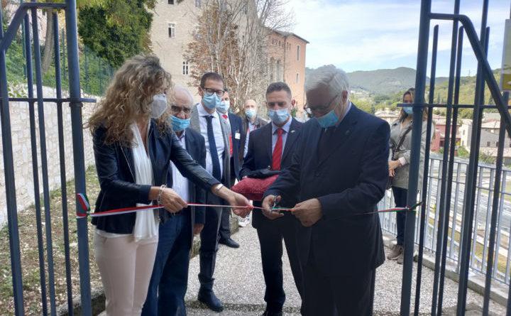 Spoleto, inaugurato il percorso pedonale che collega Posterna con via Pescaia